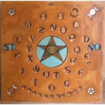 Tavola ouija artigianale pentacolo studio negozio esoterico il tempio di iside palermo - La tavola di ouija ...