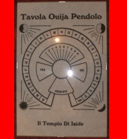 Tavola ouija per pendolo in pergamena studio negozio esoterico il tempio di iside palermo - La tavola di ouija ...